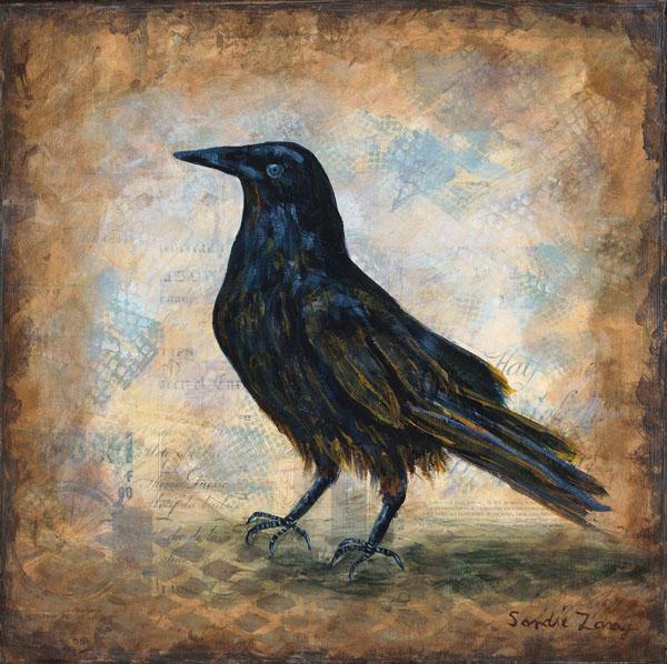 """The Crow - 12"""" x 12"""""""